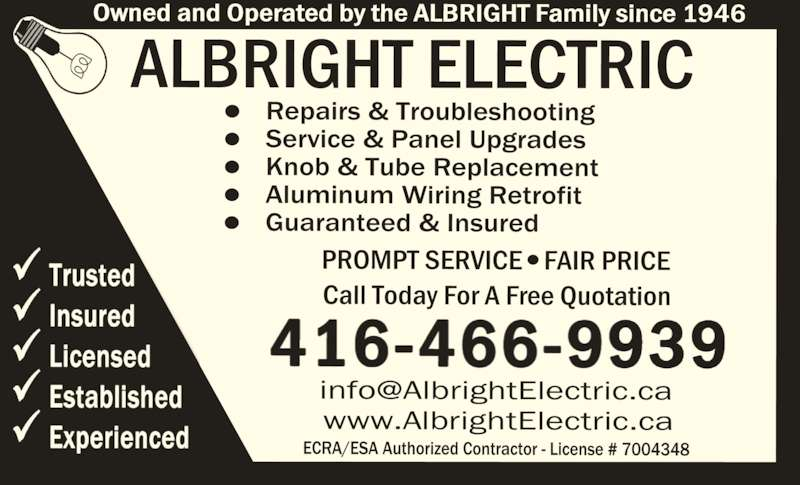 ad Albright Electric Co Limited
