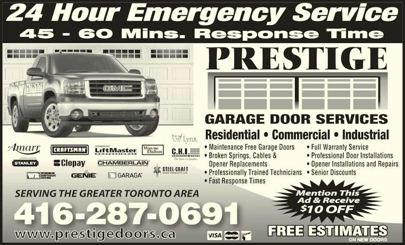 Prestige Garage Door Services Canpages