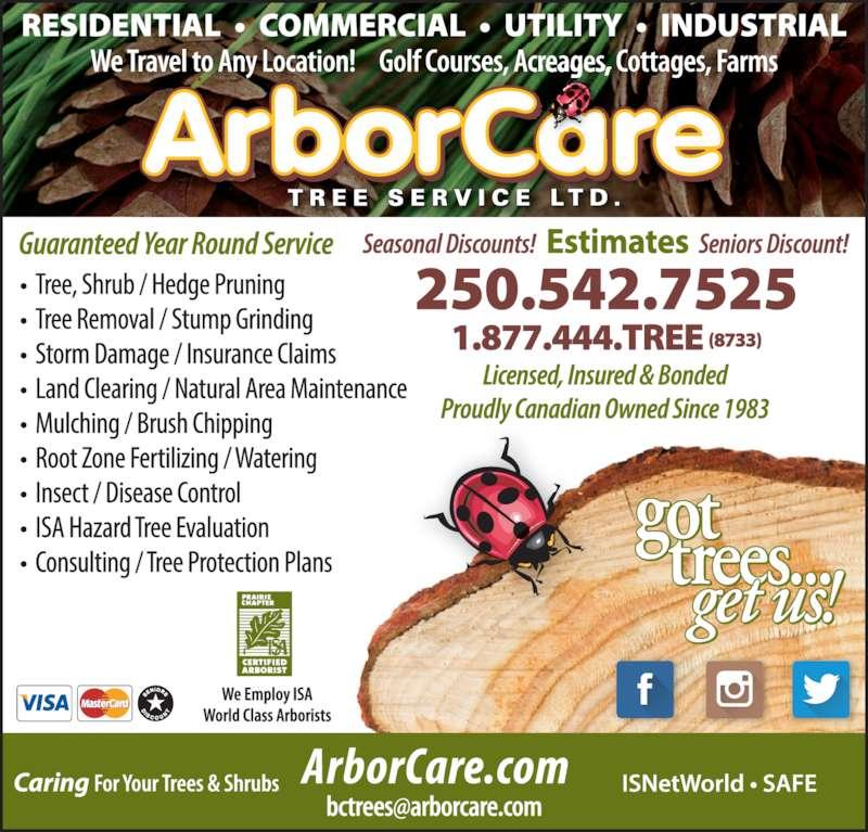 Arborcare Tree Service Ltd Vernon Bc 3000 43rd Avenue