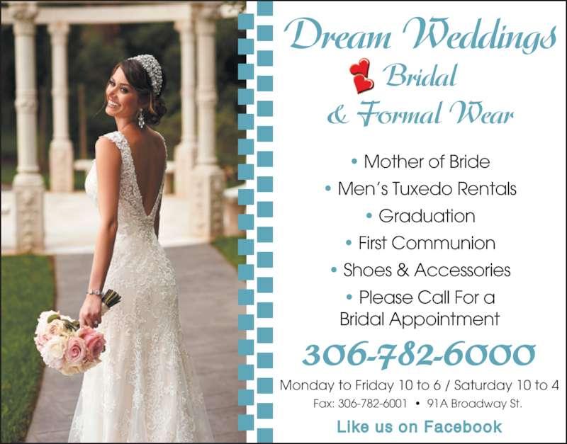 Dream Weddings Yorkton Sk 91 Broadway St E Canpages