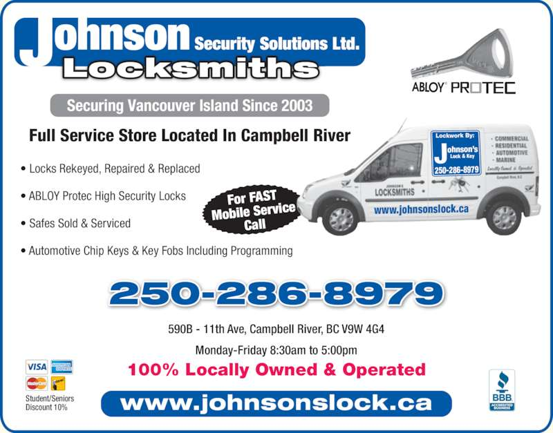 ad Johnson's Lock & Key