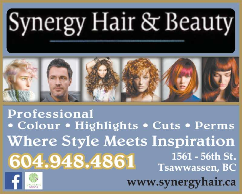 Synergy Hair & Beauty (6049484861) - Display Ad - Where Style Meets Inspiration ? Colour ? Highlights ? Cuts ? Perms Professional