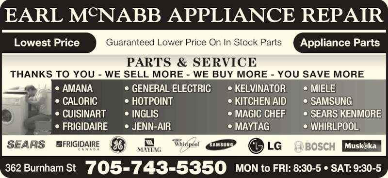 Mcnabb Earl Appliance Repair Peterborough On 362