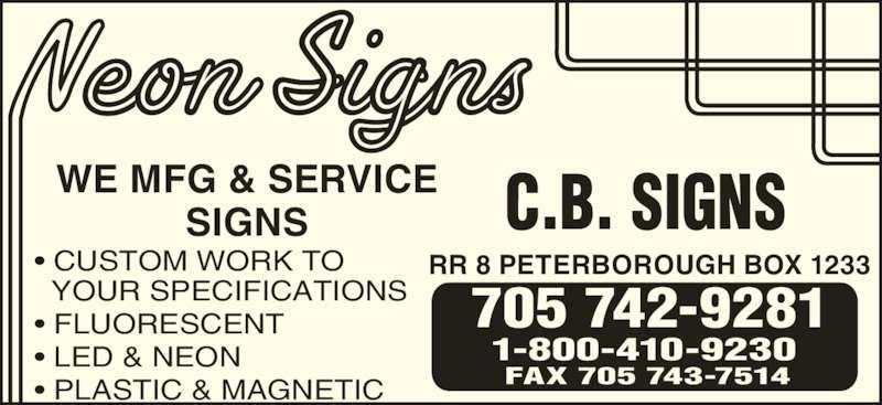 ad C B Signs