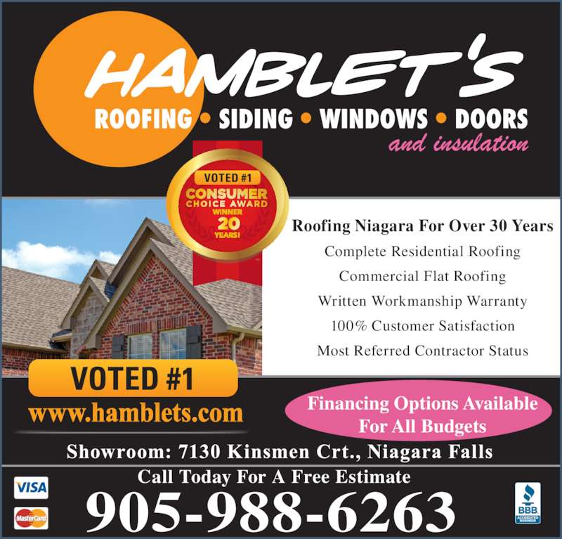 ... ad Hambletu0027s RoofingSidingWindows u0026 Insulation ...  sc 1 st  Canpages.ca & Hambletu0027s RoofingSidingWindows u0026 Insulation - Niagara Falls ON ... memphite.com