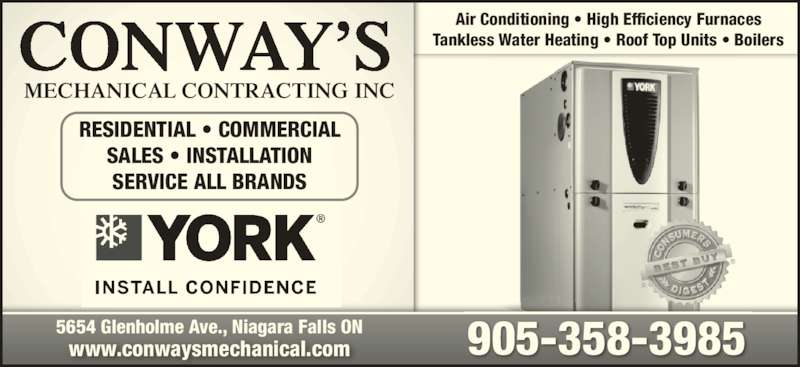 Conways Mechanical Contracting Inc Niagara Falls ON