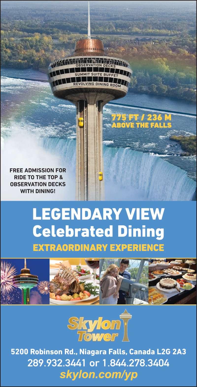 skylon tower - menu, hours & prices - 5200 robinson st, niagara