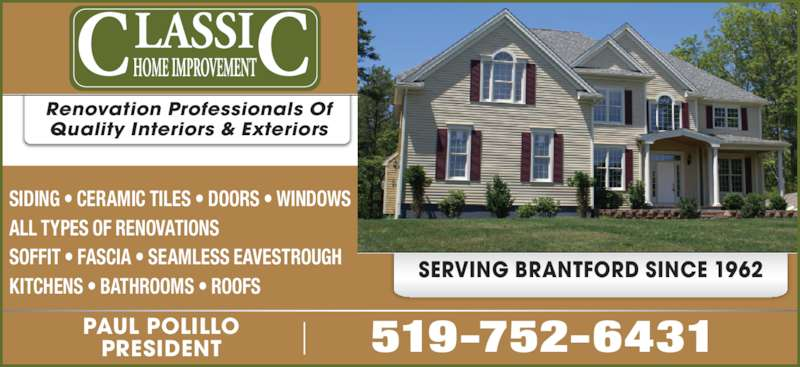 Classic Home Improvement Inc Brantford On 169