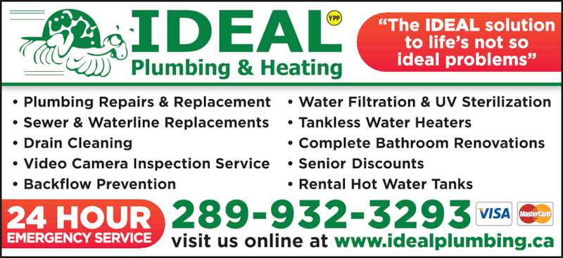 Ideal Plumbing & Heating (905-680-1851) - Display Ad - YPP