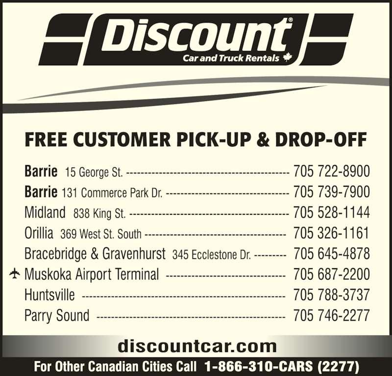 Discount Car Rental Barrie