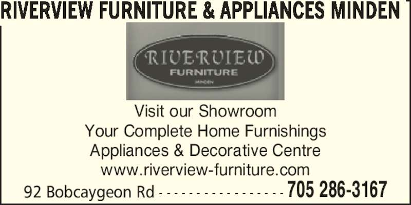 Riverview Furniture & Appliances Minden (705-286-3167) - Annonce illustrée======= -