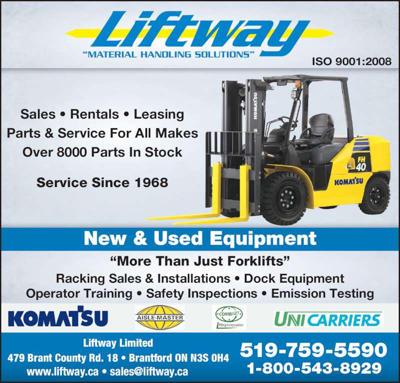 liftway limited   brantford on   479 brant county road 18