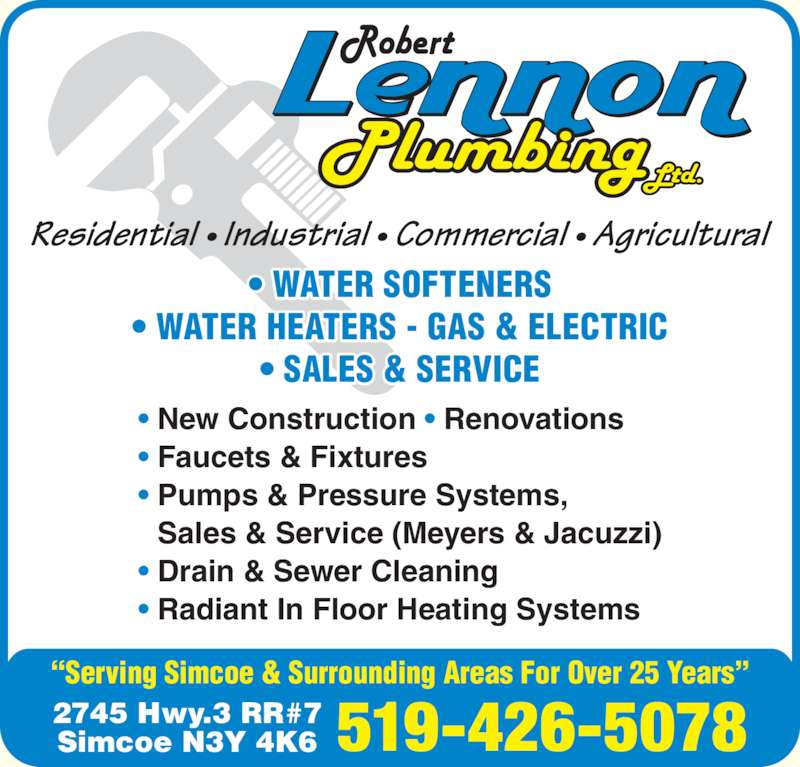 Lennon Plumbing Ltd Simcoe On 2745 Highway 3 Canpages