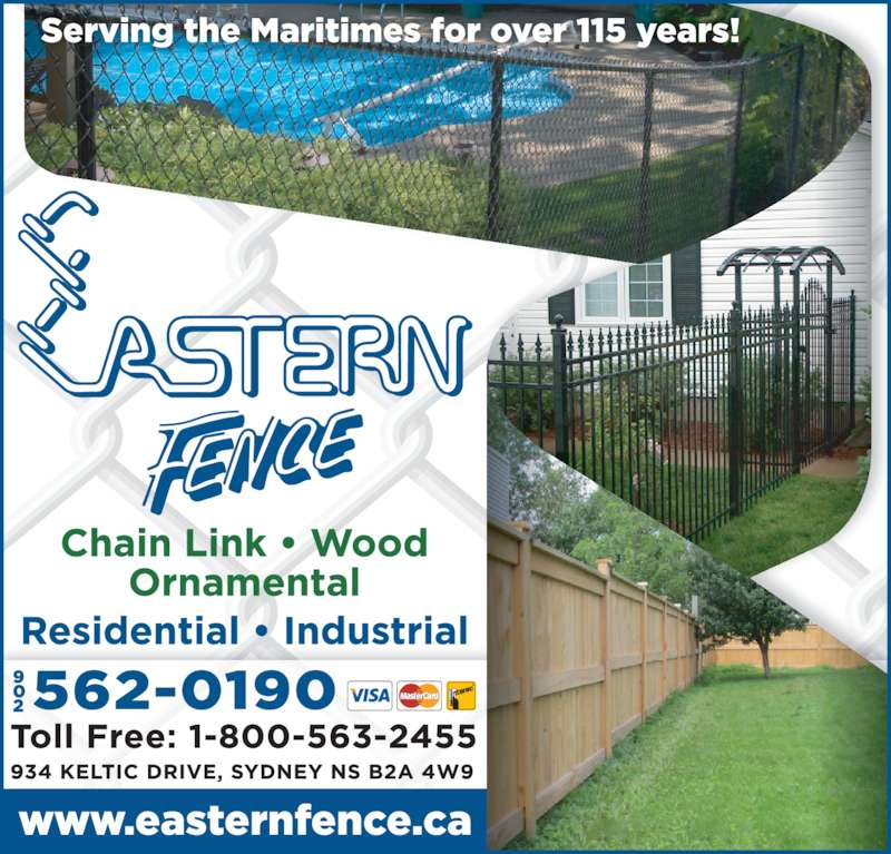 Eastern Fence Opening Hours 934 Keltic Dr Point Edward Ns