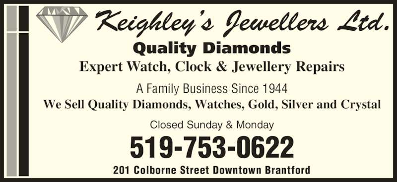 Keighley 39 s jewellers brantford on 201 colborne st for A and s salon supplies keighley