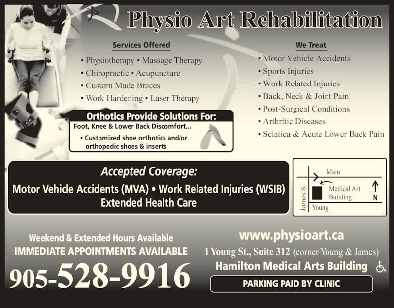 Physio Art Rehabilitation Opening Hours 312 1 Young St Hamilton On