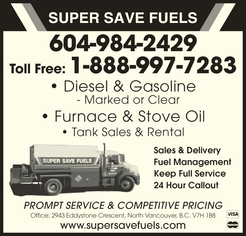 Super save fuels north vancouver bc 2943 eddystone for 24 hour tanning salon near me