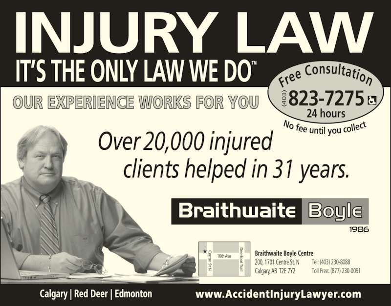 Braithwaite boyle accident injury law red deer ab for Salon real 1230 s boyle ave