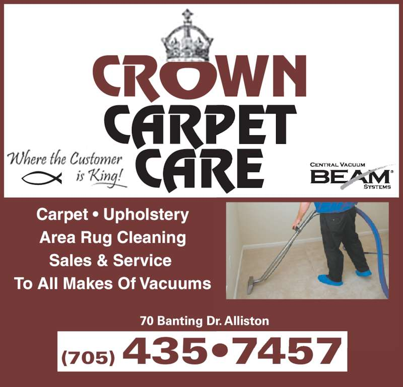 Crown Carpet Care Alliston On 70 Banting Dr Canpages