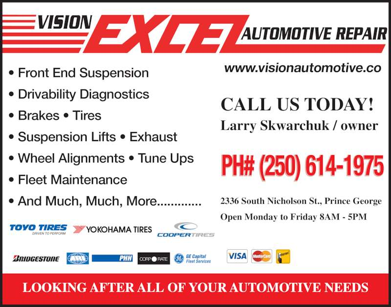 Vision Excel Tire Centre - Prince George, BC - 2336 Nicholson St S ...
