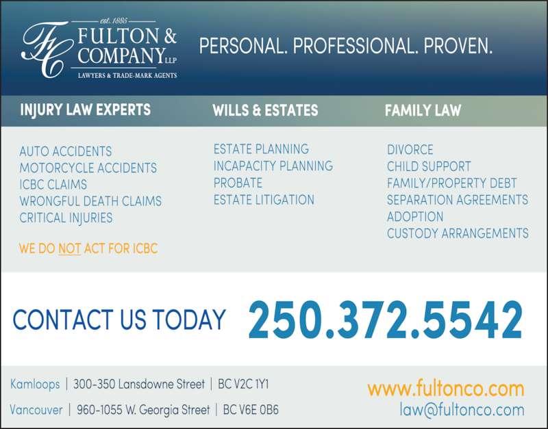 Fulton & Company LLP (250-372-5542) - Display Ad -