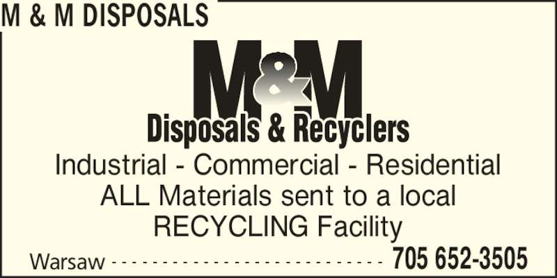 ad M&M Disposals