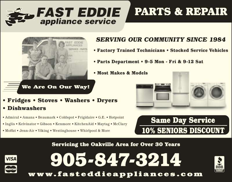 Fast Eddie Appliance Service Amp Parts Opening Hours 380