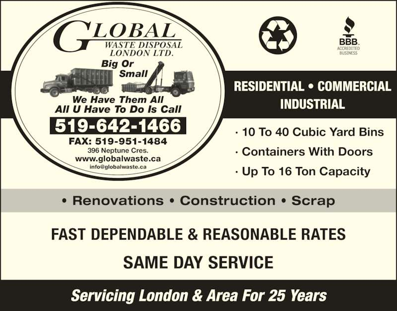 Global Waste Disposal London Ltd London On 396