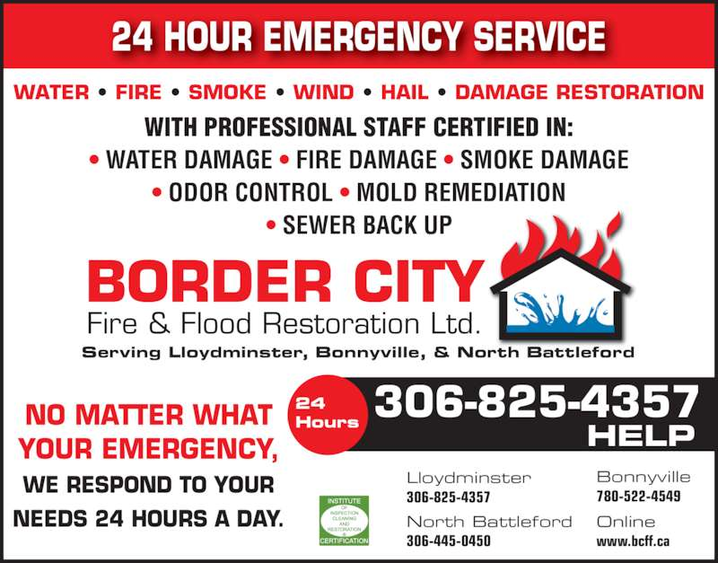 Border city fire flood restorations north battleford for 24 hour tanning salon near me