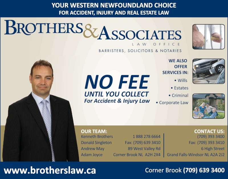 Brothers & Associates Law Office (7096393400) - Display Ad -
