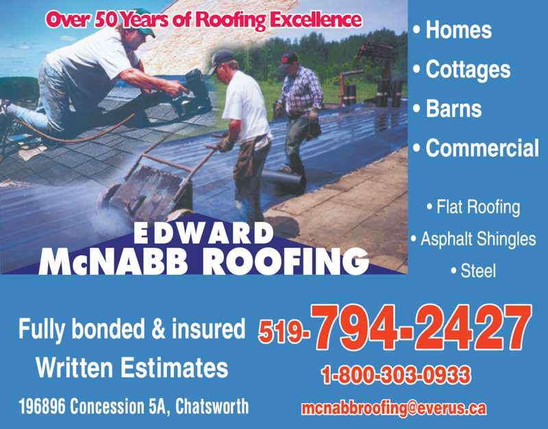 McNabb Edward Roofing (519 794 2427)   Display Ad   ? Homes