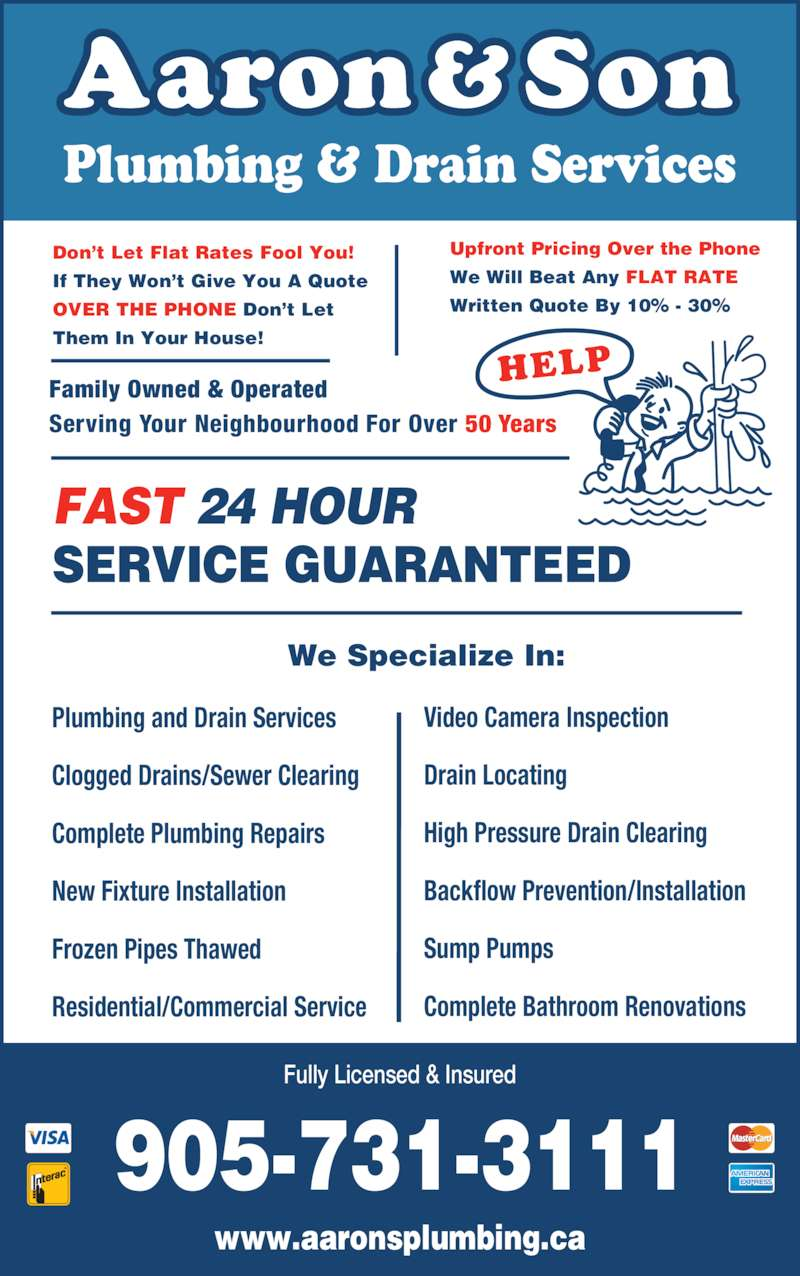 Aaron & Son Plumbing - Thornhill, ON - 96 Doncaster Ave ...