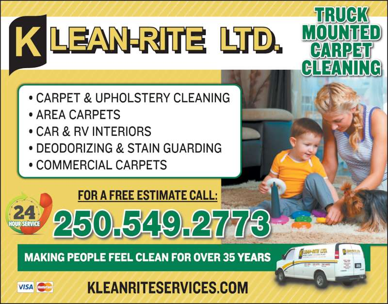klean rite carpet upholstery cleaners canpages. Black Bedroom Furniture Sets. Home Design Ideas