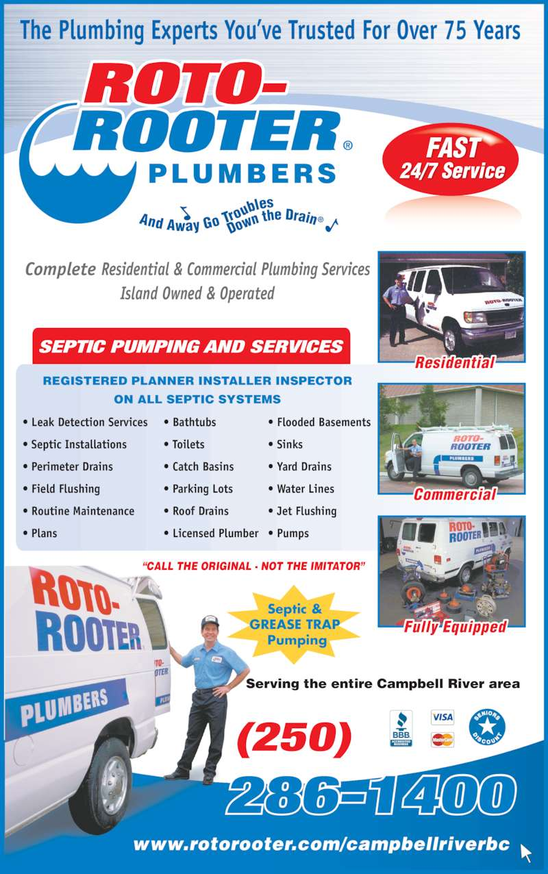Roto Rooter Sewer Amp Drain Services