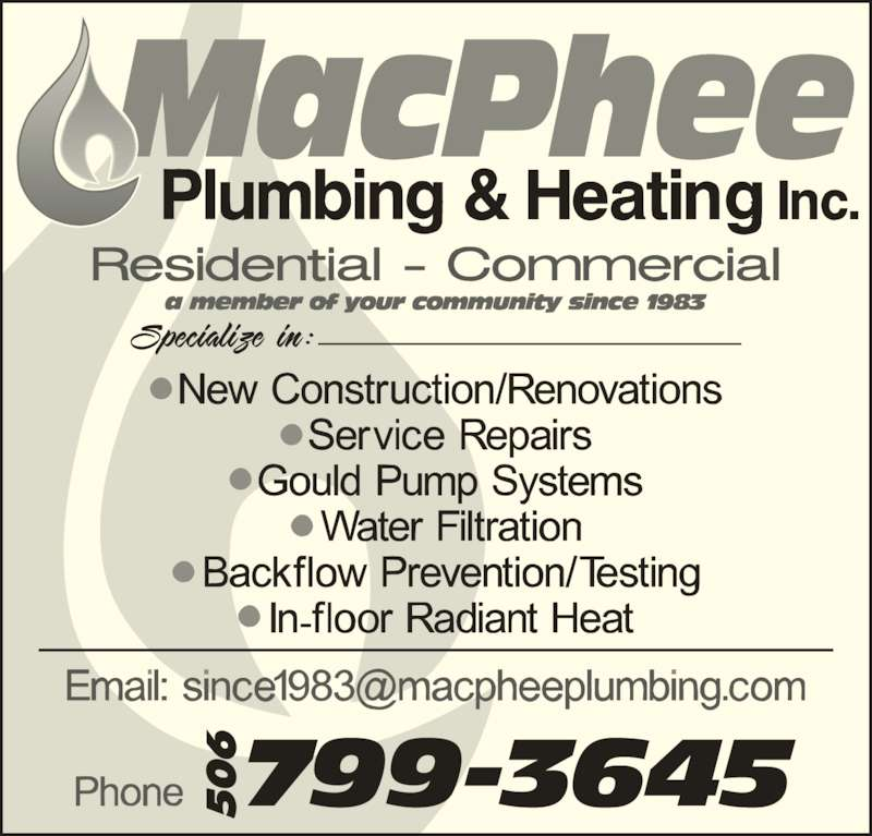 ad MacPhee Plumbing & Heating Ltd