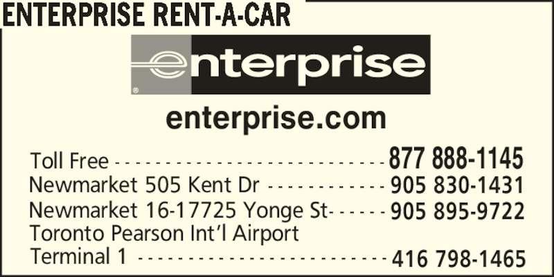 Enterprise Car Rental Montreal Canada Phone Number