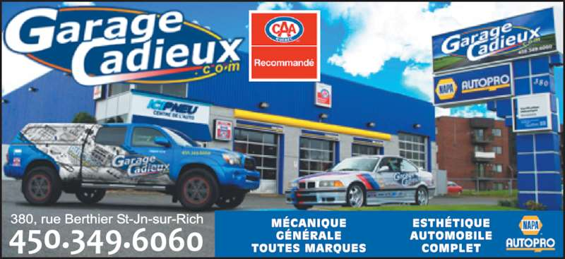 Garage cadieux saint jean sur richelieu qc 380 rue for Garage ad st coulomb
