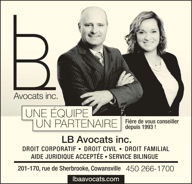 Landry Boucher Avocats inc (4502661700) - Annonce illustrée======= -