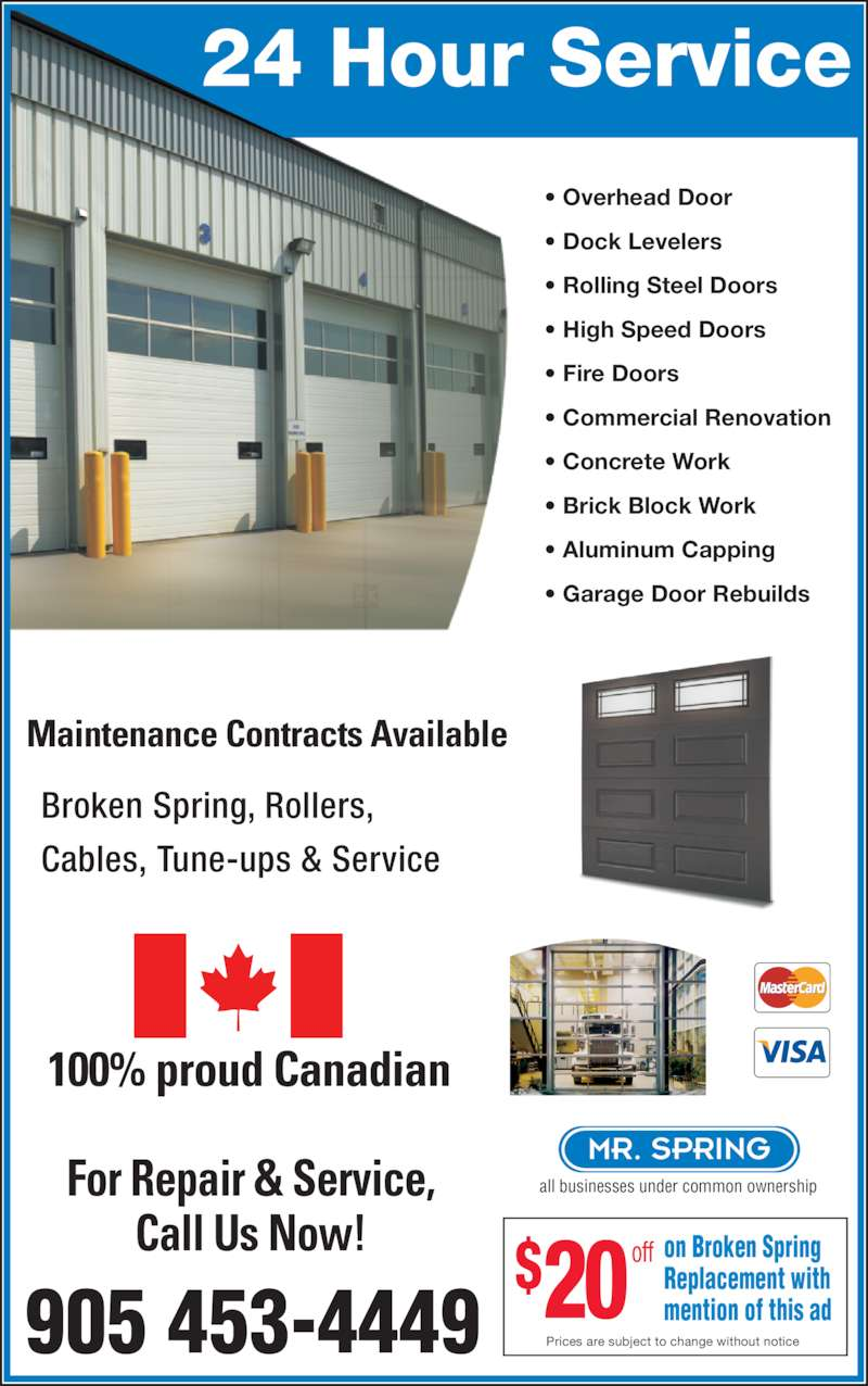 Garage One Doors amp Service Mississauga ON 28