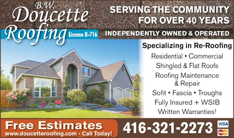 ad Doucette B W Roofing