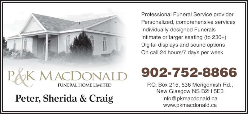 Funeral Homes New Glasgow Ns