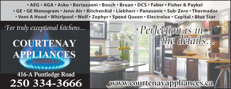 Courtenay Appliances Opening Hours 416 Puntledge Rd