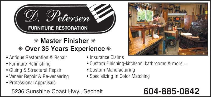 D Petersen Furniture Restoration   Ads