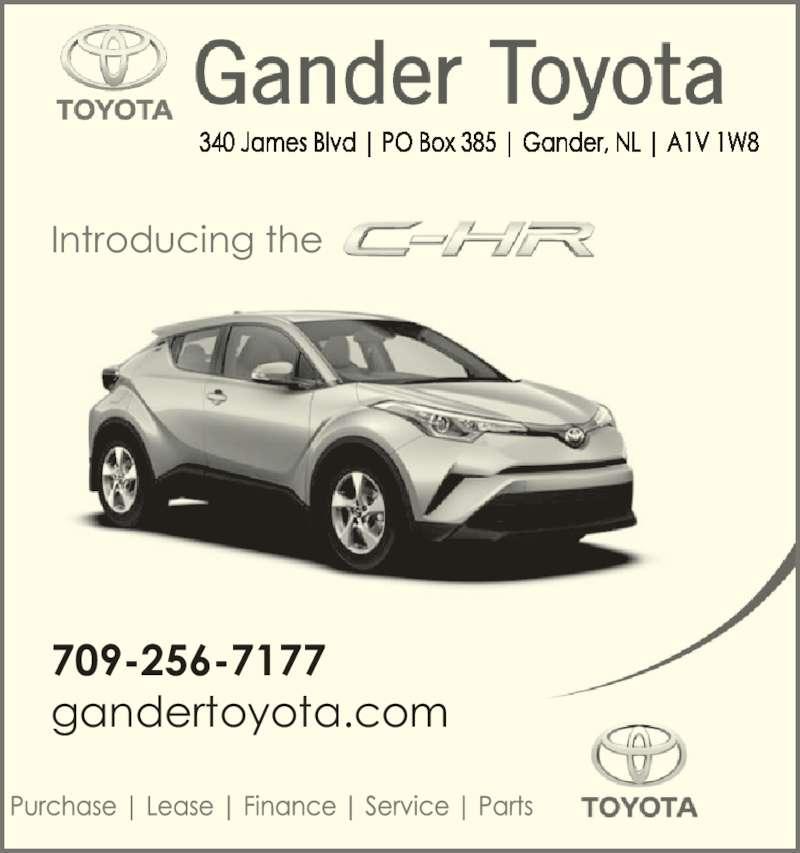 Gander Toyota - Gander, NL - 340 James Blvd | Canpages