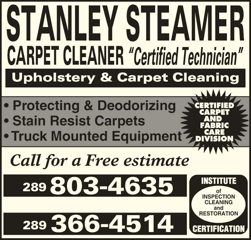 Stanley Steamer Carpet Cleaner Queensville On 6