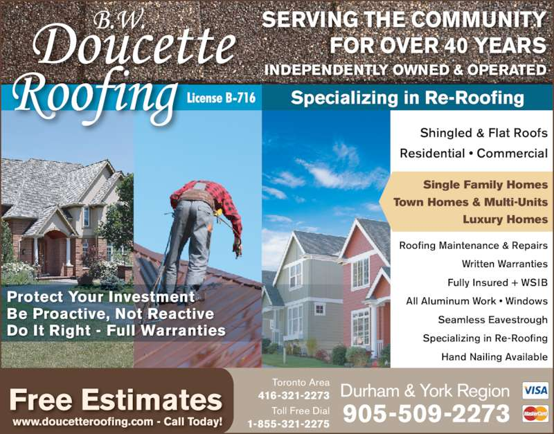 Ads Doucette B W Roofing