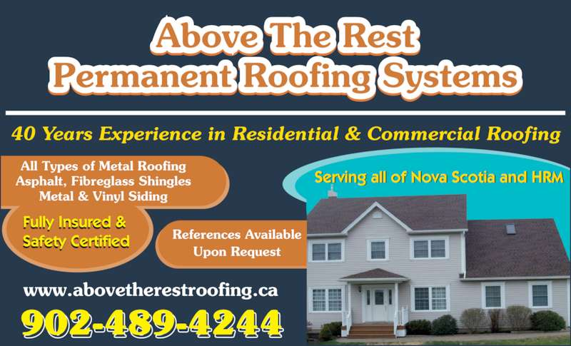 Above The Rest Permanent Roofing Systems Opening Hours