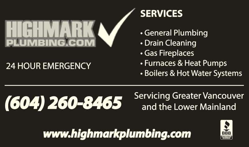 ad High Mark Plumbing