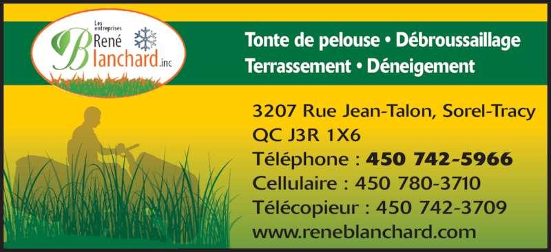 ad Les Entreprises René Blanchard