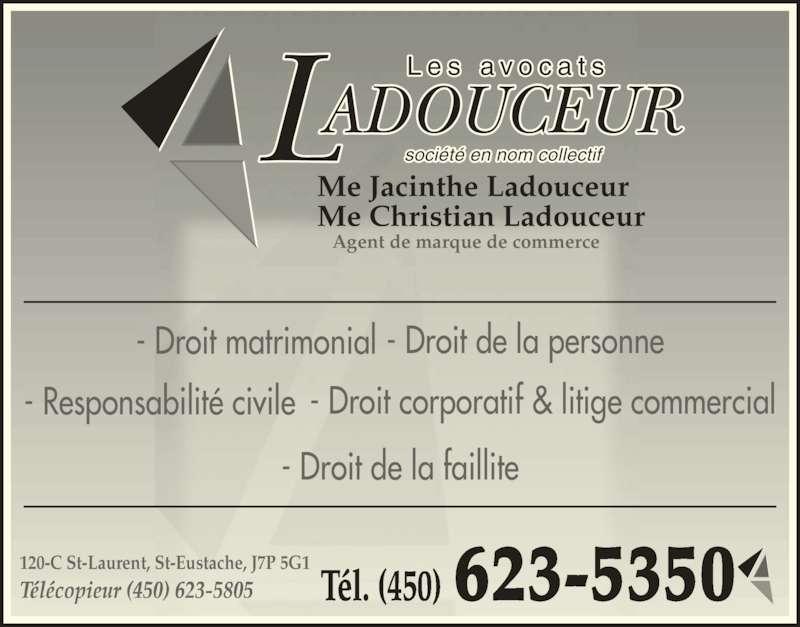 Jacinthe Ladouceur - Horaire d'ouverture - 120, rue Saint ...